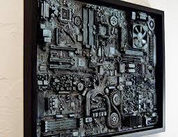 framed computer wall art big wall art 18x24 unique industrial