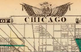 Chicago Map Art by Vintage Map Of Chicago 1857 Chicago Illinois Map Antique Chicago