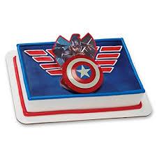 captain america cake topper decopac captain america shield ring decoset cake
