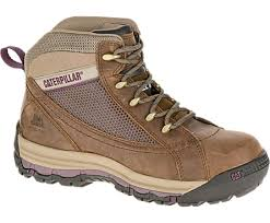 womens boots work ch mid steel toe work boot brown sugar cat footwear
