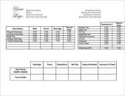 Pay Stub Template Excel Pay Stub Templates Free Premium Templates Creative Template