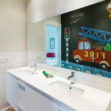bathroom stunning kids bathroom decor ideas with white bathroom