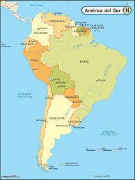 South America Map Capitals by Spanish Language Maps For Hispanic Heritage Month Maps Com