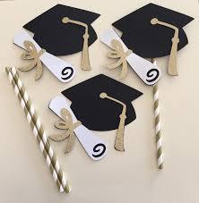 gold graduation hat centerpiece picks by mommyscustomcreation