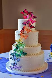 butterfly wedding cake rainbow wedding cakes butterfly wedding cake wedding cake and cake