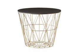 Wire Side Table Ferm Living Brass Wire Side Table I At Mood Home