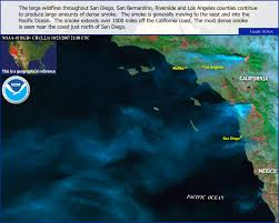 Los Angeles Fires Map by Hazy Hawaiian Skies Due To California Wildfires