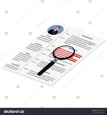 Cv Or Resume Vector Illustration Isometric Perspective 3d Cv Stock Vector