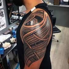 50 polynesian half sleeve designs for tribal ideas