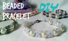 bead bracelet easy images Chic idea how to make a beaded bracelet with beads one basic color jpg