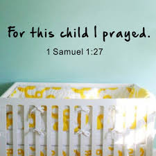 compare prices on scripture stickers online shopping buy low for this child i prayed wall decal with baby name 1 samuel 1 27 scripture