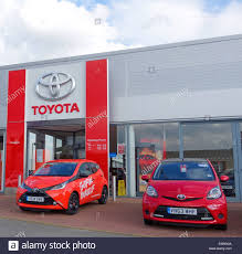 toyota car showroom toyota car showroom with toyota aygo mkii on the left and toyota
