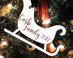 sled ornament etsy