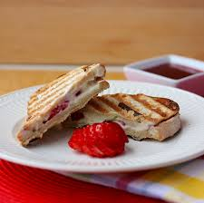Strawberry and Cheese Brunch Paninis