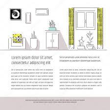 interior design booklet u2014 stock vector tekla pototska yahoo com