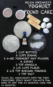 can u0027t stop making things helen askenazi u0027s yoghurt pound cake