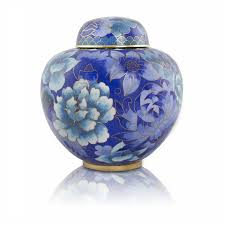 small cremation urns floral blue infant cremation urn for ashes xtra small and
