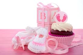 baby shower cupcakes for girl its a girl baby shower cupcakes stock image image of dessert