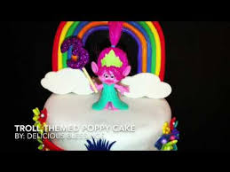 troll cake princess poppy youtube