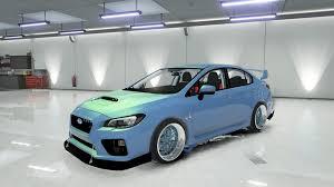 subaru wrx custom blue subaru wrx sti 2017 gta5 mods com