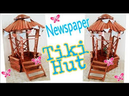 How To Make Tiki Hut How To Make Newspaper Tiki Hut Best Out Of Waste Using