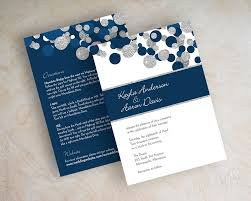 wedding invitations blue kendall navy blue silver glitter wedding invitations appleberry