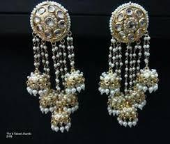 jumka earrings indian designer gold plated 5 jhumka earrings ethnic