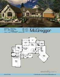Wide Lot Floor Plans 1 Story Craftsman House Plan Mcgreggor