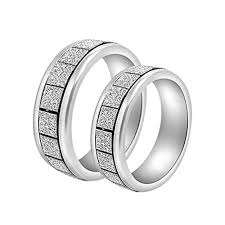 girls rings silver images Stainless steel silver couple rings gift for girl and boy by jpg