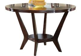 Rooms To Go Dining Table Sets by Cindy Crawford Home Highland Park Ebony Round Counter Height
