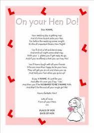 bridal shower gift poems personalised poem keepsake hen hen do hen party bridal
