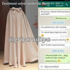 rok panjang muslim rok cantik murah terbaru velvet umbrella griya raditya