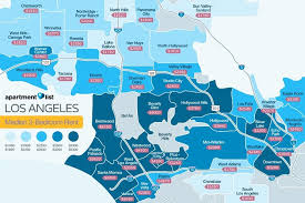 los angeles suburbs map los angeles highest rents can be found in this neighborhood