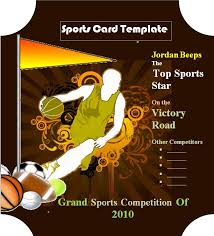 sports card template graphics and templates