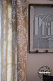 painted curtains dyi stonegable