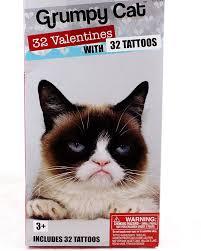 grumpy cat valentines 32 grumpy cat classroom cards with