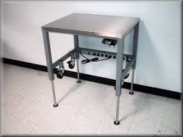 Stainless Steel Desk Accessories Rdm Stainless Steel Adjustable Height Table Model A107p Ss