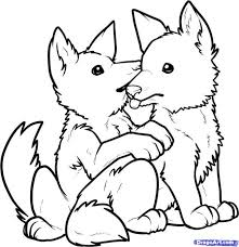 coloring pages graceful draw wolf pups coloring pages