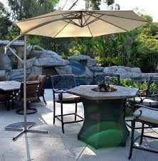 Patio Umbrellas Offset Offset Patio Umbrella Beige 10 Adjustablequality Patio