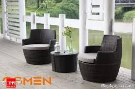 osmen lerida wicker outdoor furniture balcony setting 4 piece