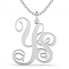 monogram necklace silver two initial monogram necklace sterling silver jeulia jewelry