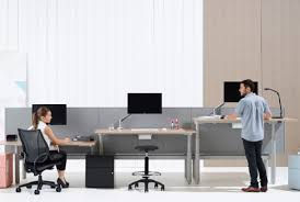 Sit Stand Desks Sit Stand Desk Trend Shifts Up A Gear Allwork Space