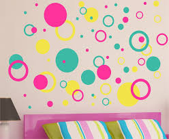 Children Decor Rings  Circles Wall Decals Nursery Wall Art - Kids room wall decoration
