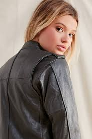 motorcycle style leather jacket pelechecoco leather moto jacket urban outfitters