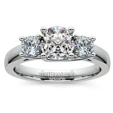 trellis three diamond engagement ring in platinum 1 2 ctw