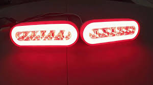 led trailer tail lights set of 2 led oval trailer brake light with red lens and clear center