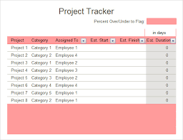 Project Tracker Template Excel Free Sle Excel Tracking 7 Documents In Excel