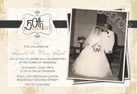 golden wedding anniversary invitations 50th wedding anniversary