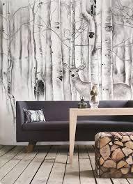 wallpaper with birch trees 52dazhew gallery deer in woods wallpaper birch trees wall mural animal forest