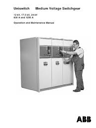 abb manual on mv switch gear switch high voltage